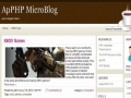 ApPHP MicroBlog Personal PHP Web Blog 4.1.1 screenshot