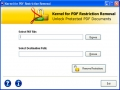 PDF File Security Remover Software 13.01.01 screenshot