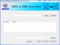 Atom TechSoft MSG to EML Converter 1.0 screenshot