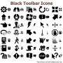 Black Toolbar Icons for Bada 2.1 screenshot