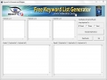 Free Keyword List Generator 1.2.8 screenshot