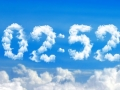 Blue Clouds Clock Screensaver 2.0 screenshot