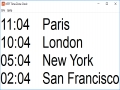 NTP Time Zone Clock 1.0 screenshot